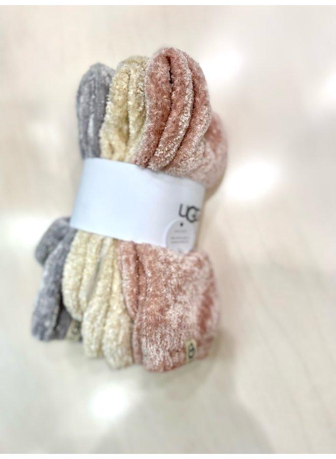 Lead Sparkle - 3 Pack Socks (White/Lotus Blossom/Seal)