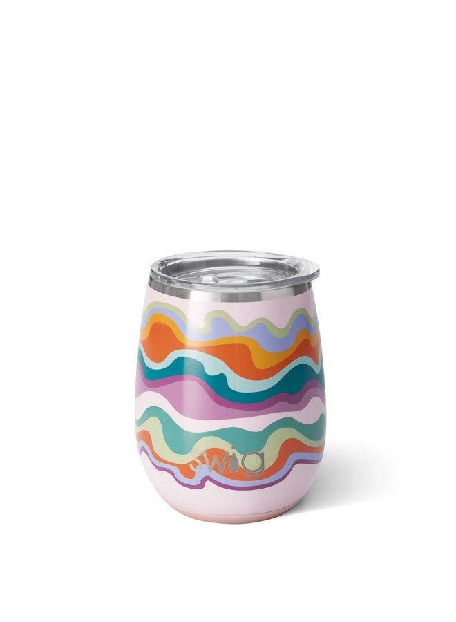 14oz Stemless Wine Cup - Sand Art