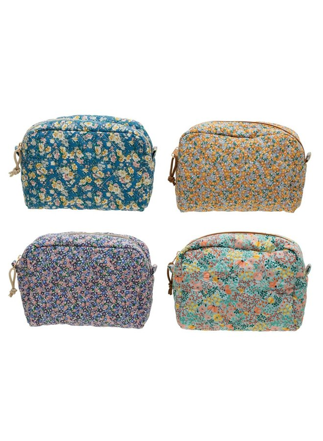 Large Quilted Cotton Pouch -
