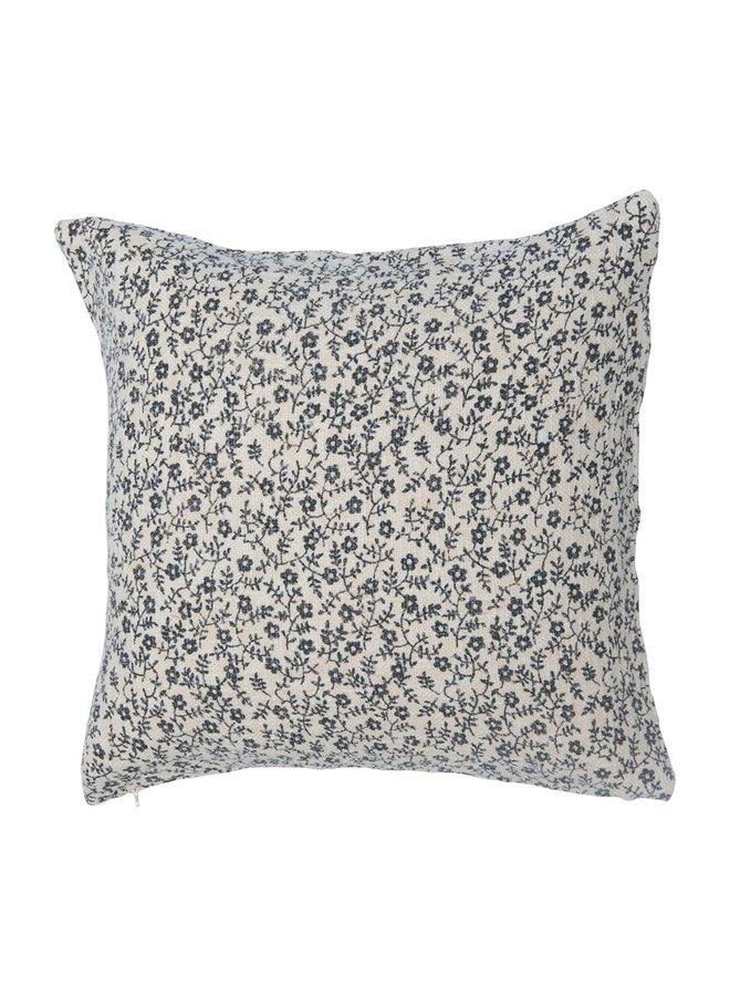 "Cotton Slub Floral Pillow (20"")"