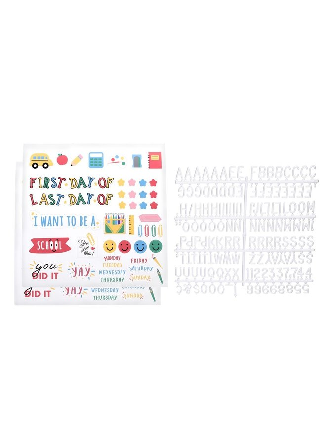 First or Last Day of School Letterboard Set with Stickers