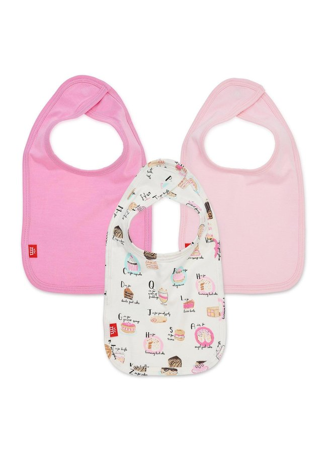 Cake My Day Magnetic Bibs 3 Pack