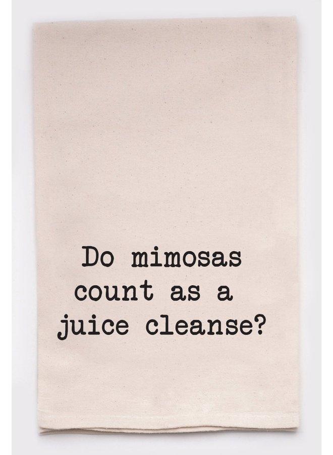Do Mimosas Count Tea Towel
