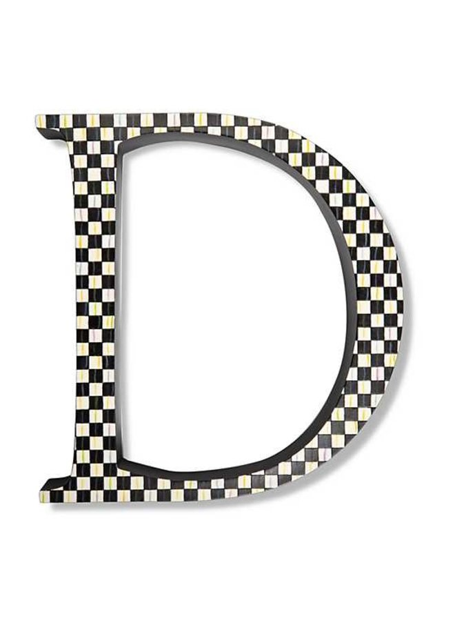 Courtly Check Letter - D