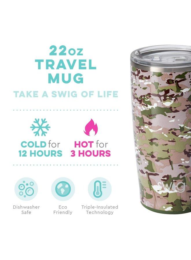 22oz Travel Mug with Handle- Duty Calls