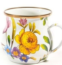 MacKenzie-Childs Flower Market Mug-White
