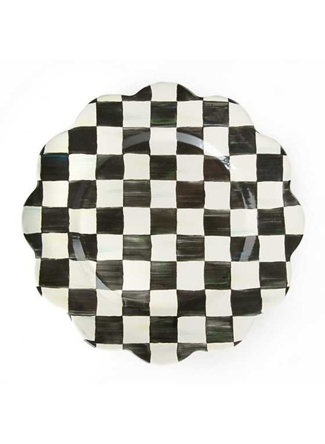 Courtly Check Petal Charger Plate