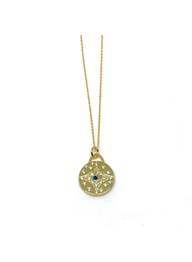 Good Karma Necklace- Pave Eye