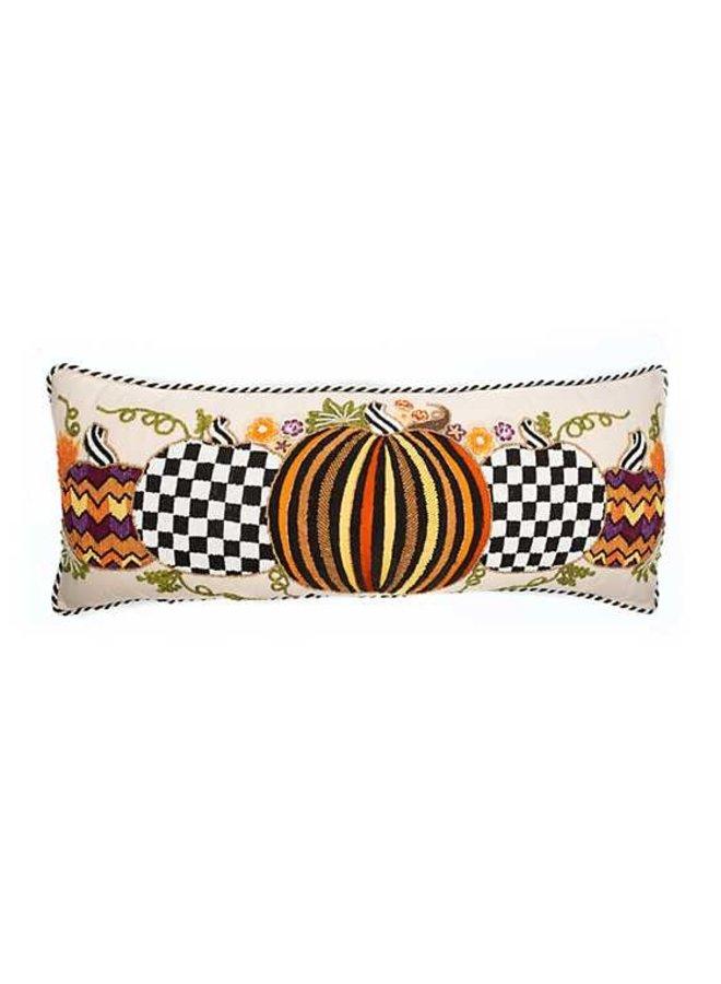 Autumn Pumpkins Lumbar Pillow