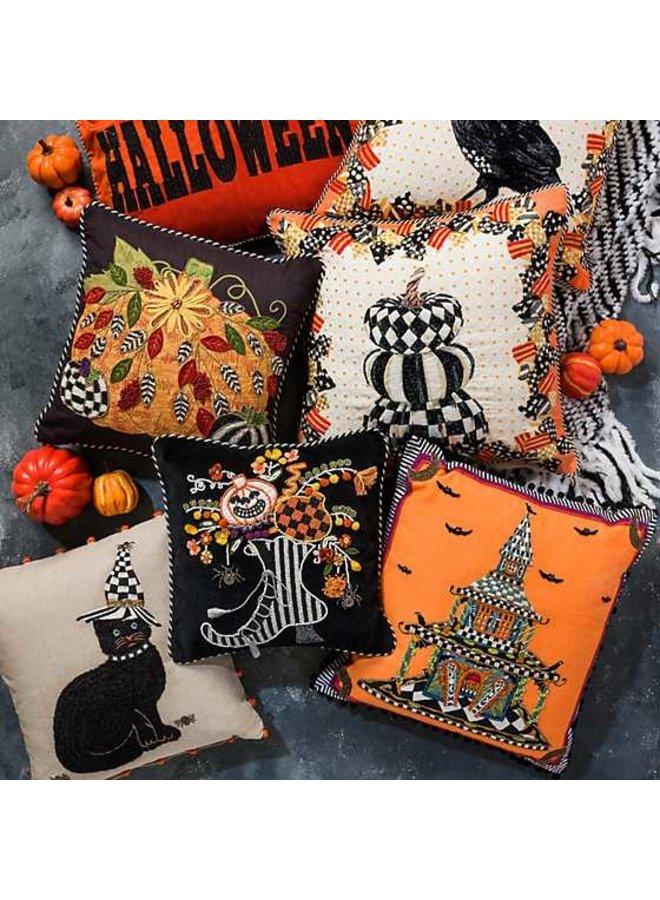 Halloween to Boot Pillow