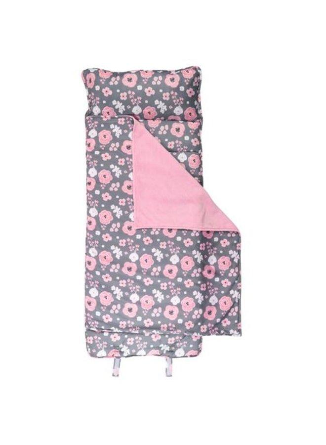 All Over Print Nap Mat- Charcoal Flower