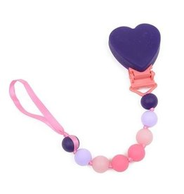 """Chewbeads Chewbeads Baby """"Where's The Pacifier?"""" Clip- Heart"""