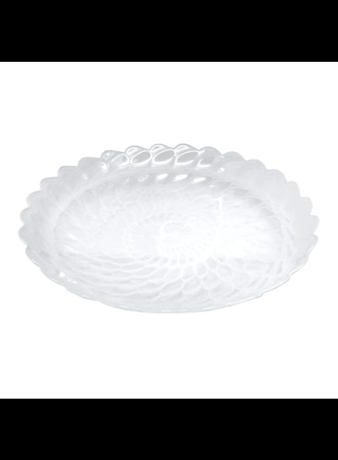 Alabaster White Large Scallop Rim Bowl