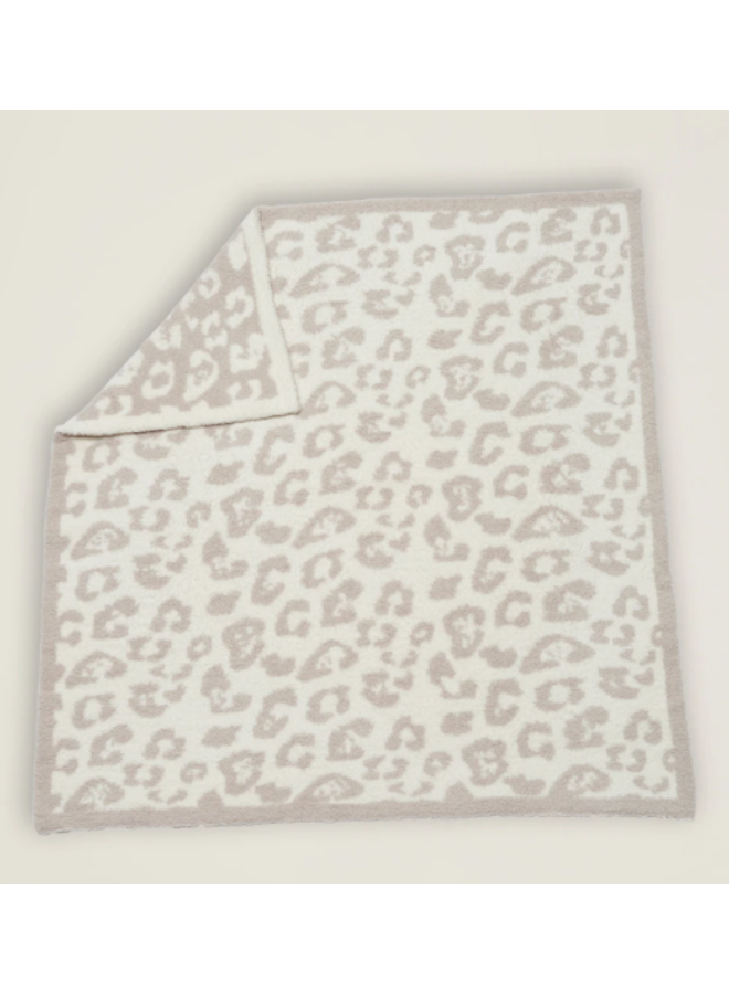 CozyChic Barefoot in the Wild Baby Blanket - Stone/Cream