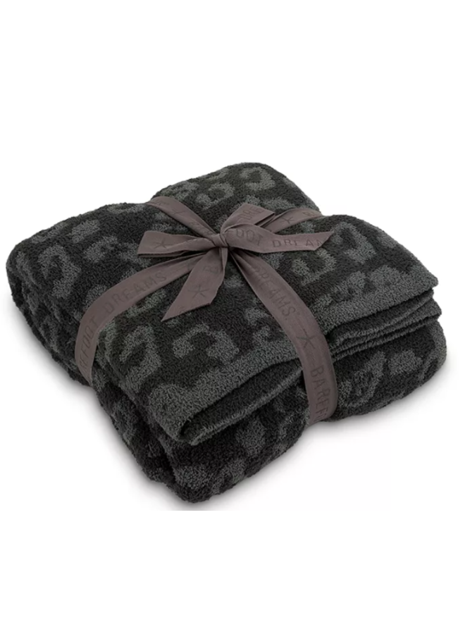 CozyChic Barefoot in the Wild Throw - Graphite/Carbon