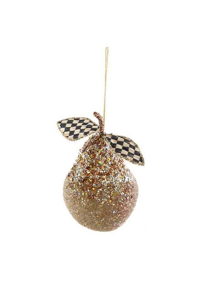 Golden Hour Pear Ornament