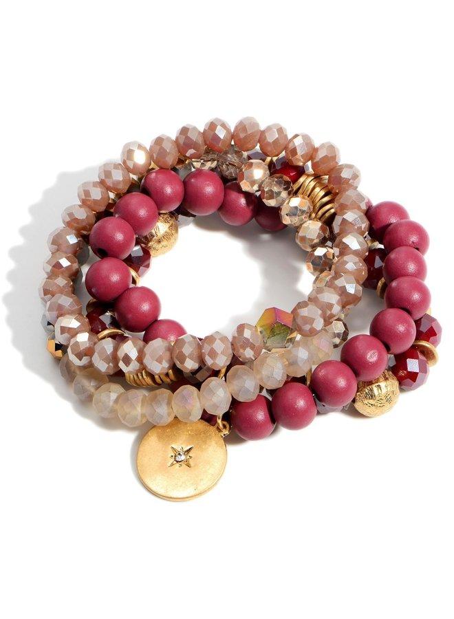 Beaded Bracelet (Set of 4) -