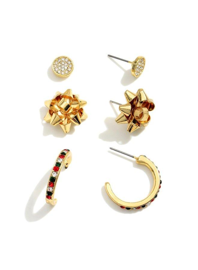 Christmas Earring Trio -