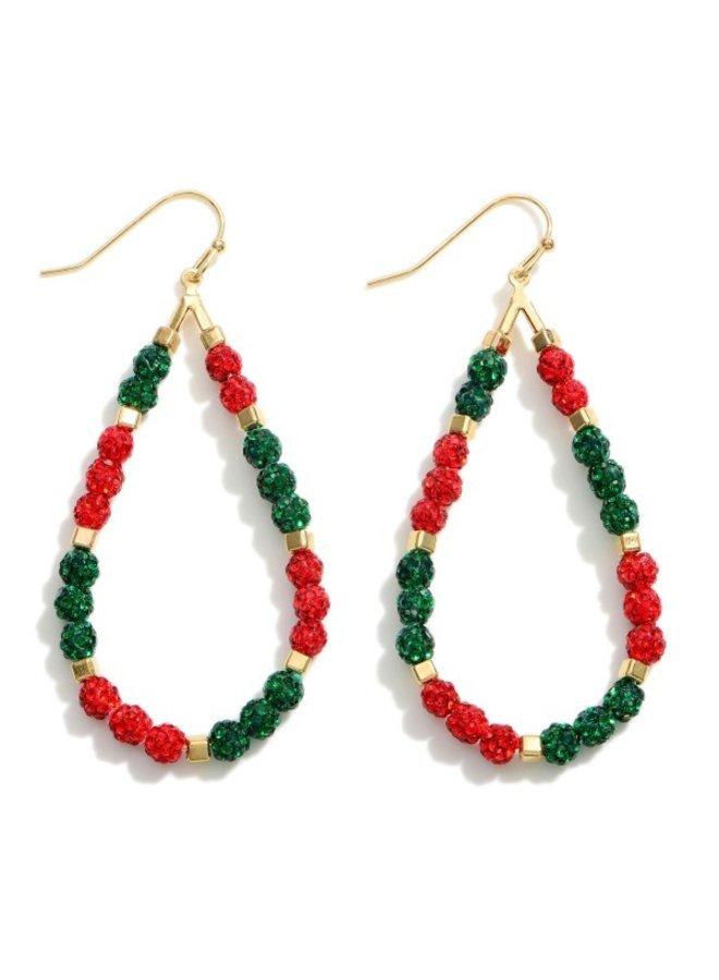 Christmas Teardrop Earrings