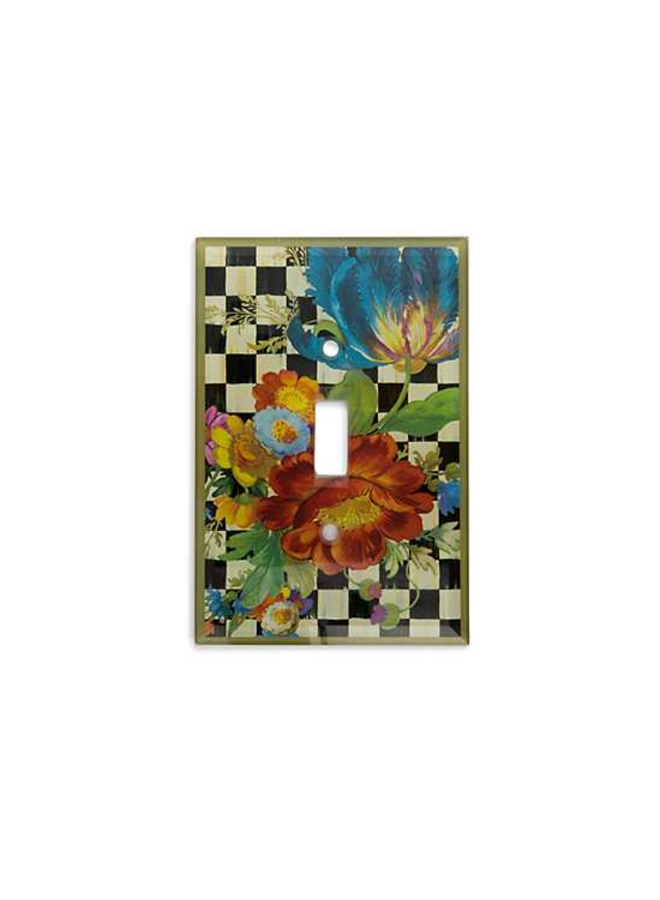 Courtly Flower Market Switch Plate
