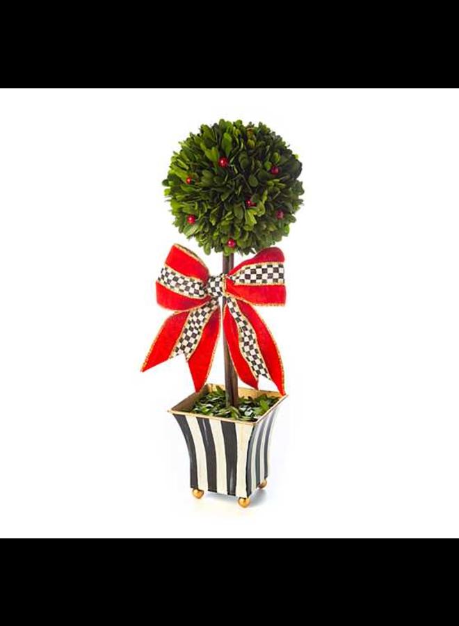 Classic Courtly Boxwood Topiary - Medium