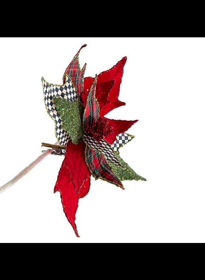 Happy Holidays Poinsettia Clip