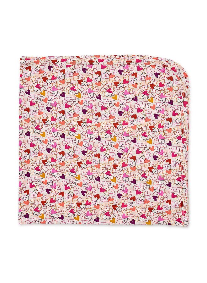 Heart To Heart Swaddle Blanket