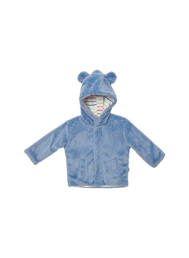 Dusk Blue Stripe Minky Jacket