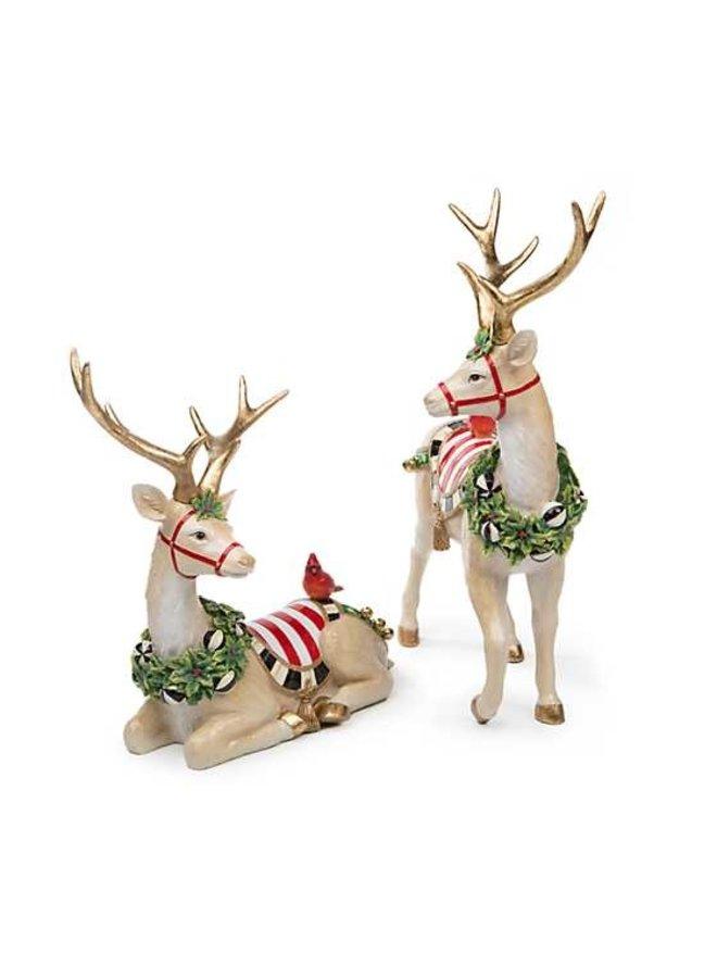 Jolly Deer - Sitting - White