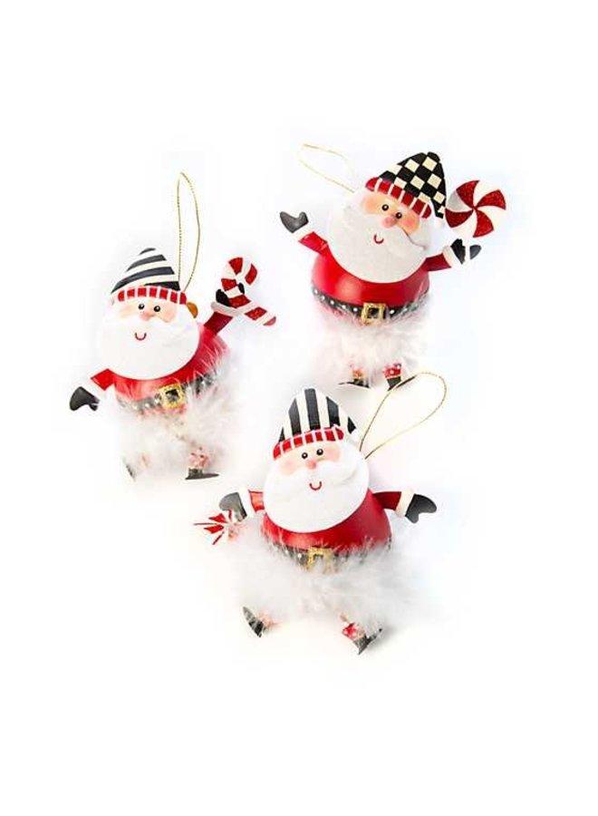 Checkmate Santa Ornaments - Set of 3