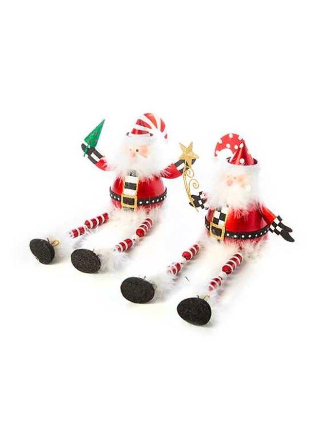 Dangling Santas - Set of 2