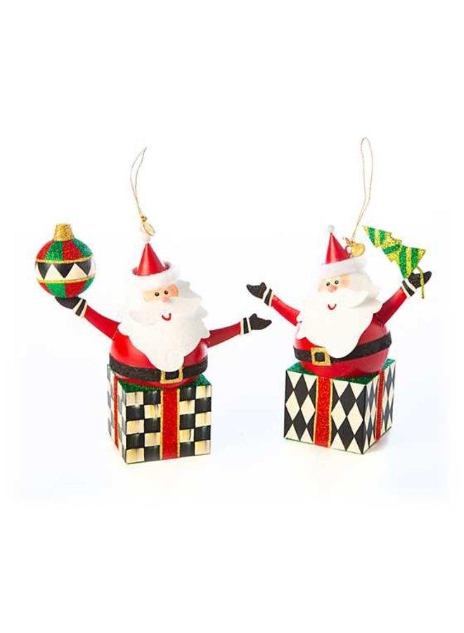 Jolly Present Santas - Set of 2