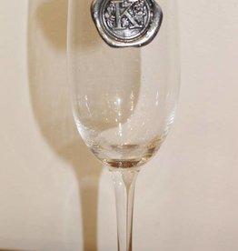 Southern Jubilee Champagne Flute- Initial K