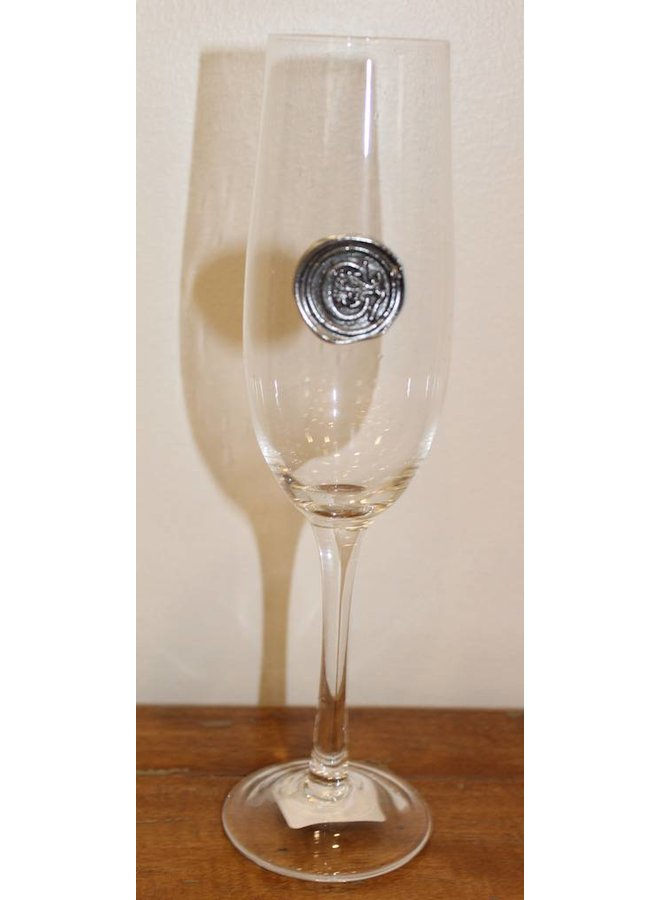 Champagne Flute- initial C