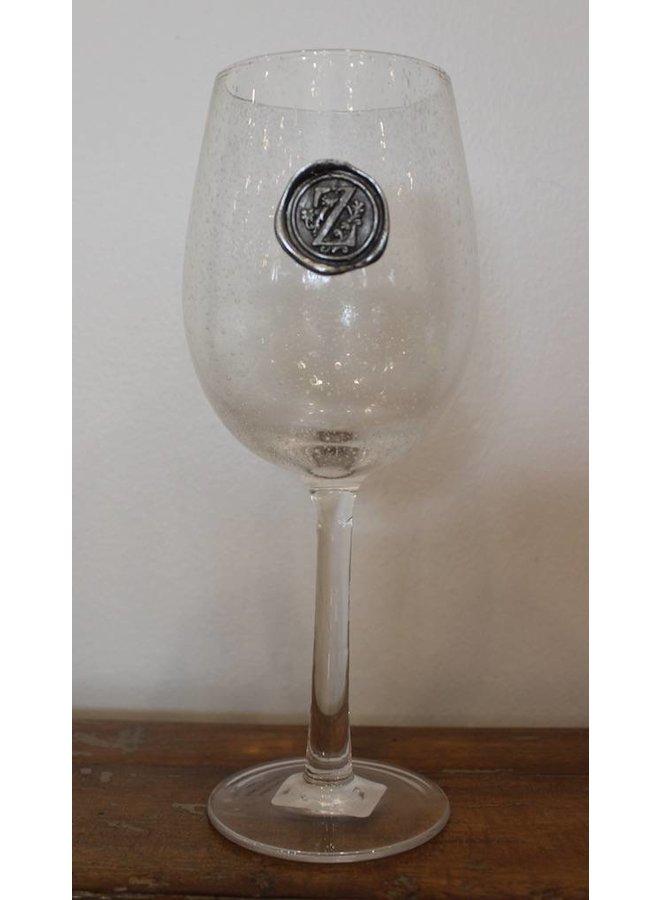 Stem Wine Glass- Initial Z