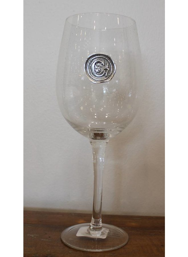 Stem Wine Glass-Initial C