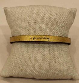 """Laurel Denise Gold """"Joy Unending"""" Leather Bracelet"""