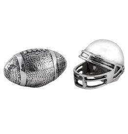 Star Home Designs Football Helmet/Ball Salt & Pepper Shaker Set