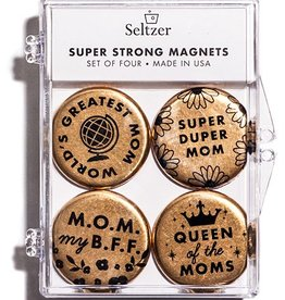 Seltzer Mom Gold Magnet Set