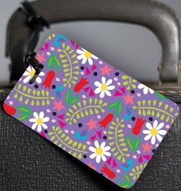 R. Nichols Hannah Floral Luggage Tag