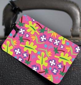 R. Nichols Nancy Floral Luggage Tag