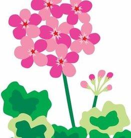 R. Nichols Pink Geranium Greeting Card
