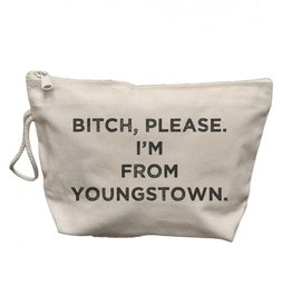 Retrospect Group Canvas Makeup Bag B*tch Please I'm From Youngstown
