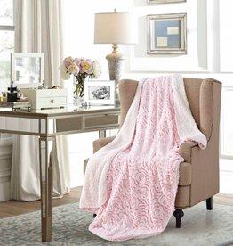 Duke Imports Inc. Sherpa Throw - Pink Rose