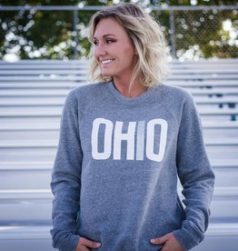 Ohriginal Look Book - OHIO Patch-Sleeve Crew Neck Sweatshirt