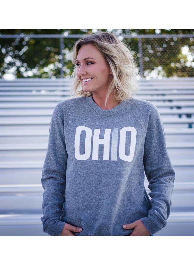 Look Book - OHIO Patch-Sleeve Crew Neck Sweatshirt