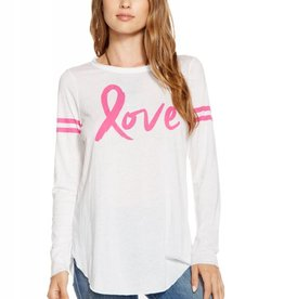 Chaser Pink Love Charity Long Sleeve Tee