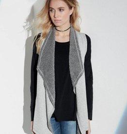Fifteen Twenty Gray Raw-Edge Vest