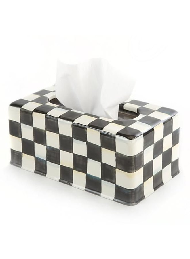 Courtly Check Standard Long Tissue Box Cover