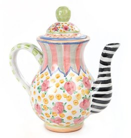 MacKenzie-Childs Taylor Coffee Pot-Cabbage Rose